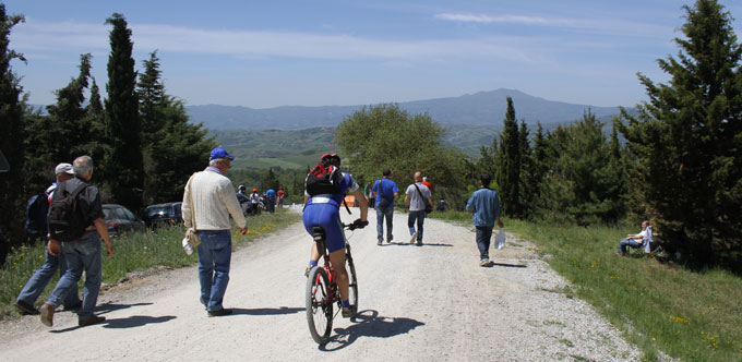 Biking in San Casciano during Giro d'Italia 2011
